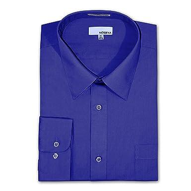 "e77ede35 Modena Big and Tall Poplin Dress Shirt - FRENCH BLUE (36-37 16.5"""