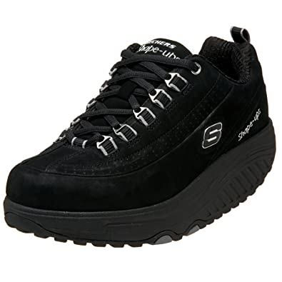 skechers shape ups womens black