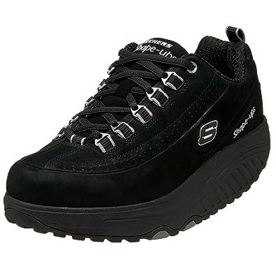 Skechers 11801 - Zapatillas de deporte de cuero nobuck para mujer, color negro, talla 36.5: Amazon.es: Zapatos y complementos