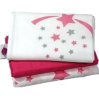 "Babymajawelt® Pañales""STARS/Estrellas"" 70x70 cm 3-pack (paños/pañales de algodón/pañales"