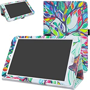 "Acer Iconia One 8 B1-860 Case,Mama Mouth PU Leather Folio 2-Folding Stand Cover with Stylus Holder for 8.0"" Acer Iconia One 8 B1-860 Android Tablet,Love Tree"