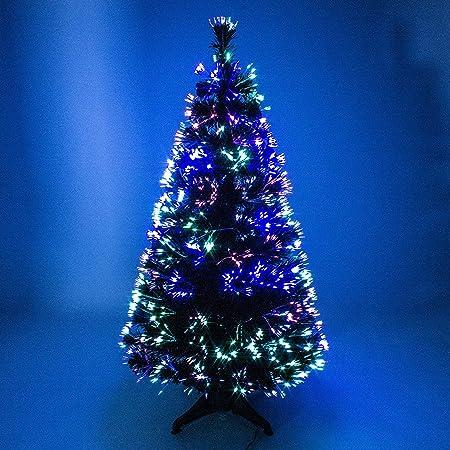 4ft 120cm Shatchi Fibre Optic Christmas Tree Various Effects Xmas Decoration - 4ft 120cm Shatchi Fibre Optic Christmas Tree Various Effects Xmas
