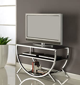 Amazon Com Kings Brand Furniture Metal With Glass Top Shelves Tv