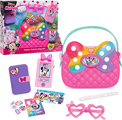 """Disney Junior Minnie Mouse Jumbo Light Up Spinner 12/"""" Wand with Cute Minnie Bag."""