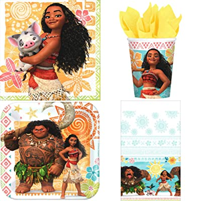 Moana Birthday Party Supplies Deluxe Bundle Pack for 16 Guests: Toys & Games
