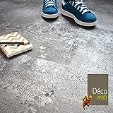 Dalle sol PVC clipsable - Click 5G - Béton gris argenté