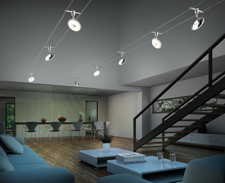 Trio Leuchten LED-Seilsystem Pilatus, EEK A++, Spot Kunststoff ...