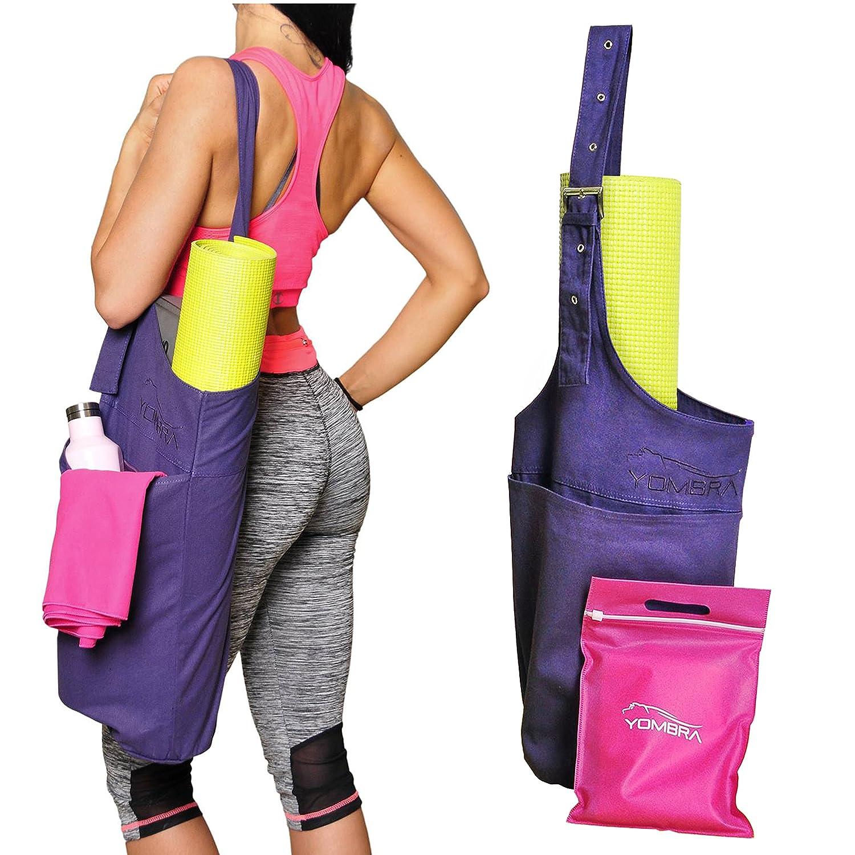 Yombra Yoga Mat Bag - Yoga Bag for Mat | Yoga Mat Carrier with Large Side Pocket & Extra Zipper | Yoga Mat Tote Sling