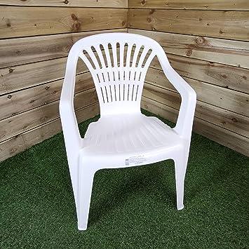 Sedie Per Esterno In Plastica.Progarden Azard Sedia Bianca Plastica Impilabile Giardino Garden