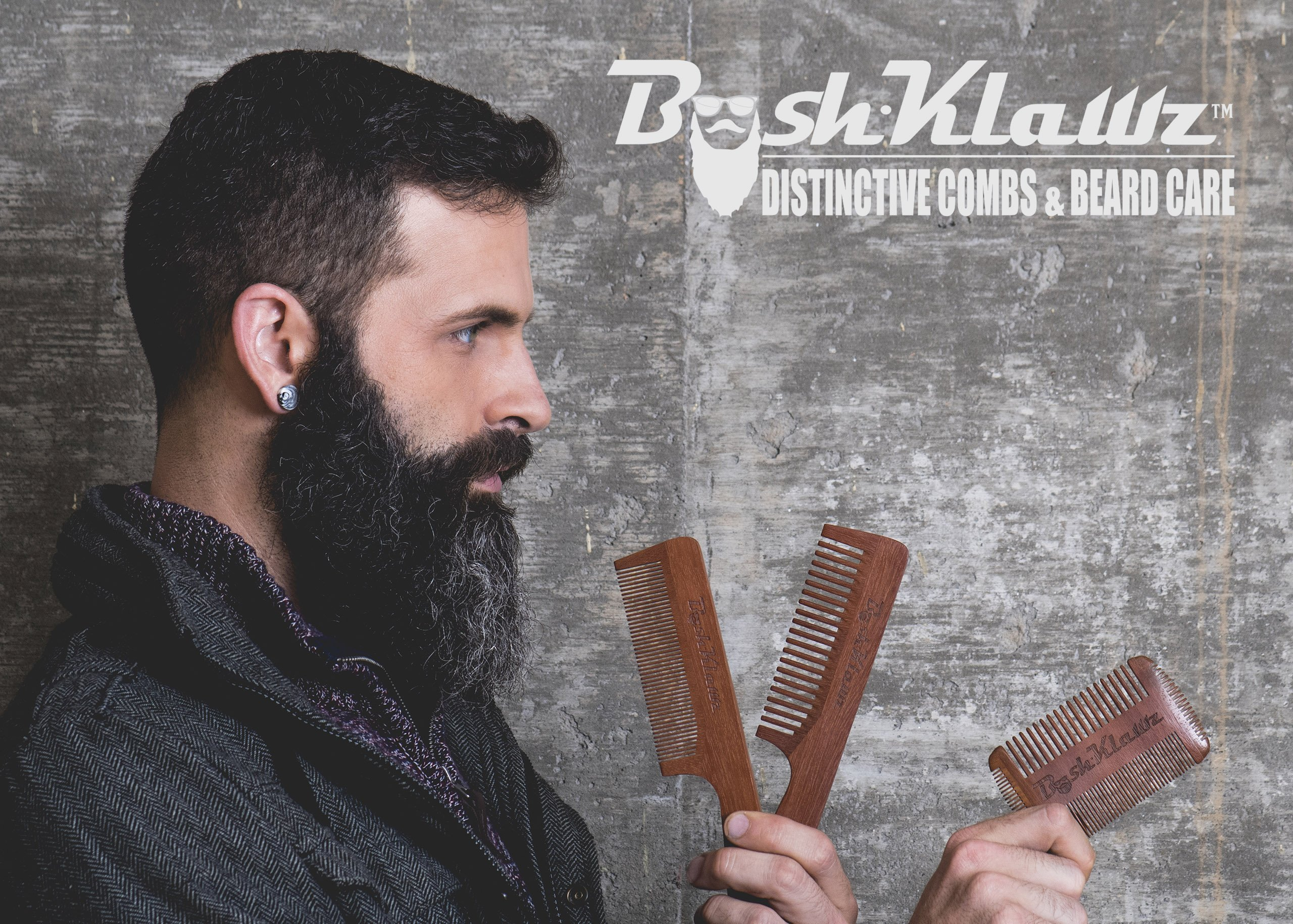 ManKlawz Men's Comb Fine Teeth Wooden Hair Comb Detailer for Fine Hair Parts and Styling - Best Handle Hair Comb for Men with Big Manly Hands by BushKlawz (Image #5)