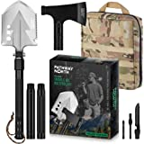 PATHWAY NORTH Camping Axe and Survival Shovel – Stainless Steel Multi-Tool Folding Shovel and Survival Hatchet…