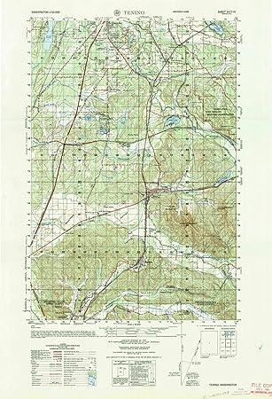 Amazoncom Washington Maps Tenino WA USGS Historical - Mgrs maps for sale