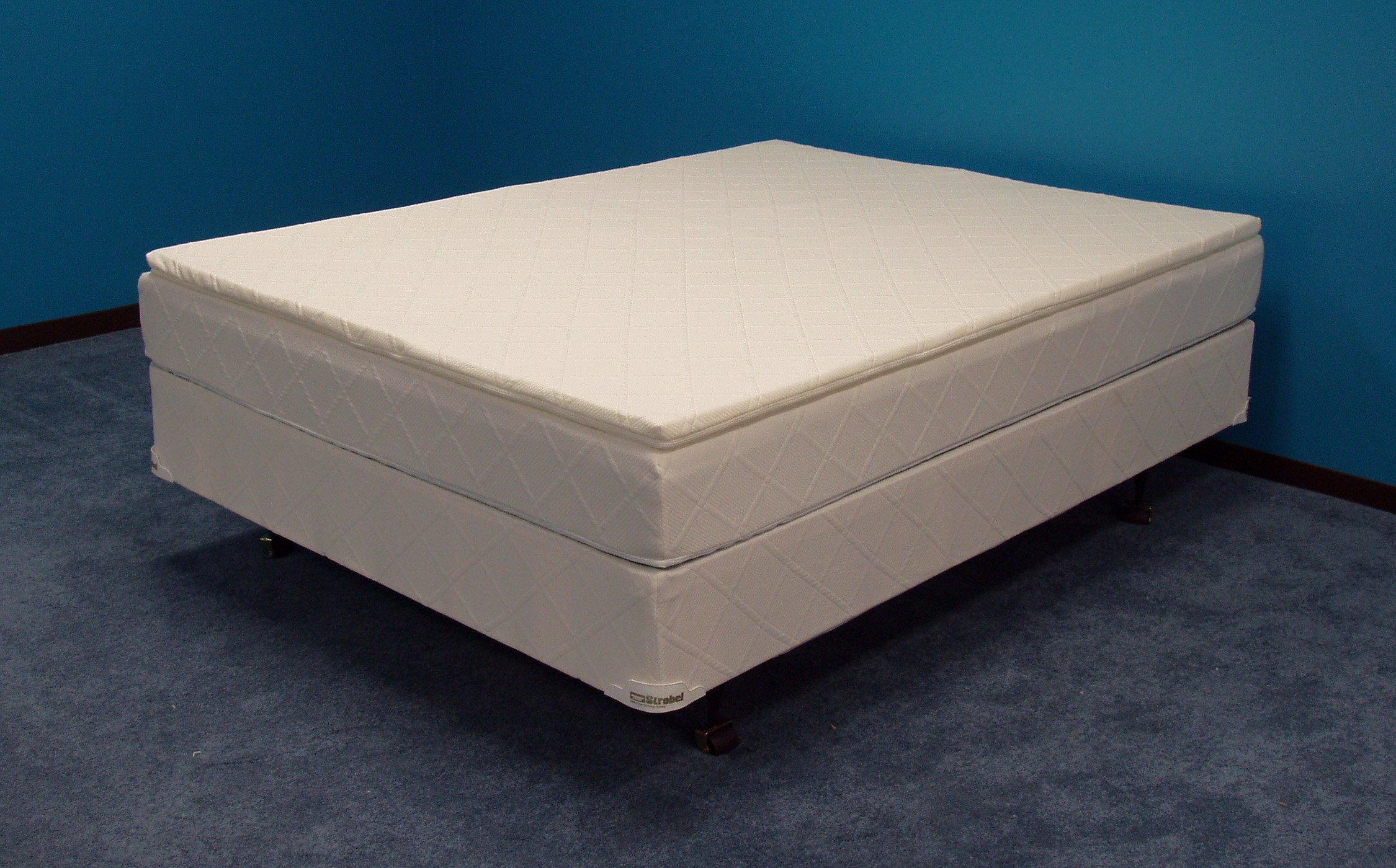 Strobel Organic ''Behave Yourself'' Softside Waterbed Patented Leak-Proof, 7'' Fill, with 1.5'' Soy Foam Pillowtop, Top Only, Full by Strobel Organic