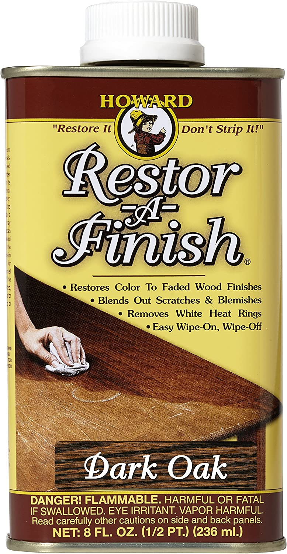 Howard Products RF7008 Restor-A-Finish, 8 oz, Dark Oak