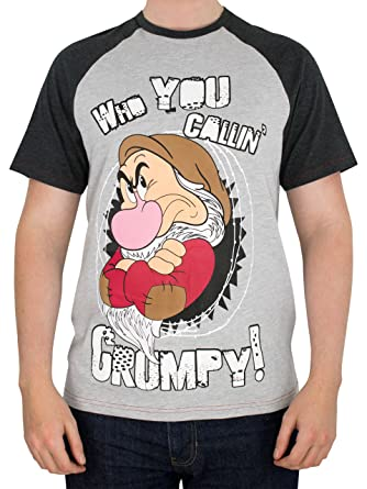 b4e5e235 Disney Grumpy Mens Grumpy T-Shirt: Amazon.co.uk: Clothing