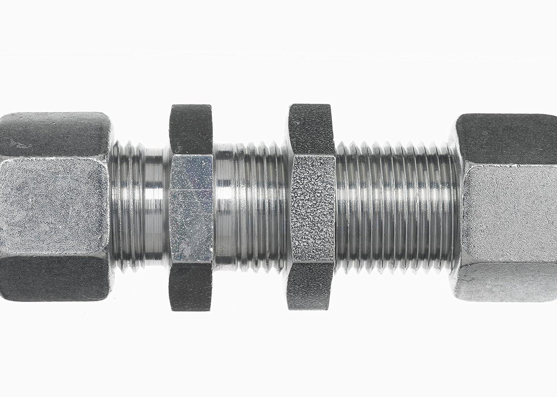 28 mm x 28 mm x Tube Size Brennan Industries D8061-LN-L28-28-NBR Steel Straight Bulkhead Coupling Bite M36 x 2 NPT x M36 x 2 NPT Thread