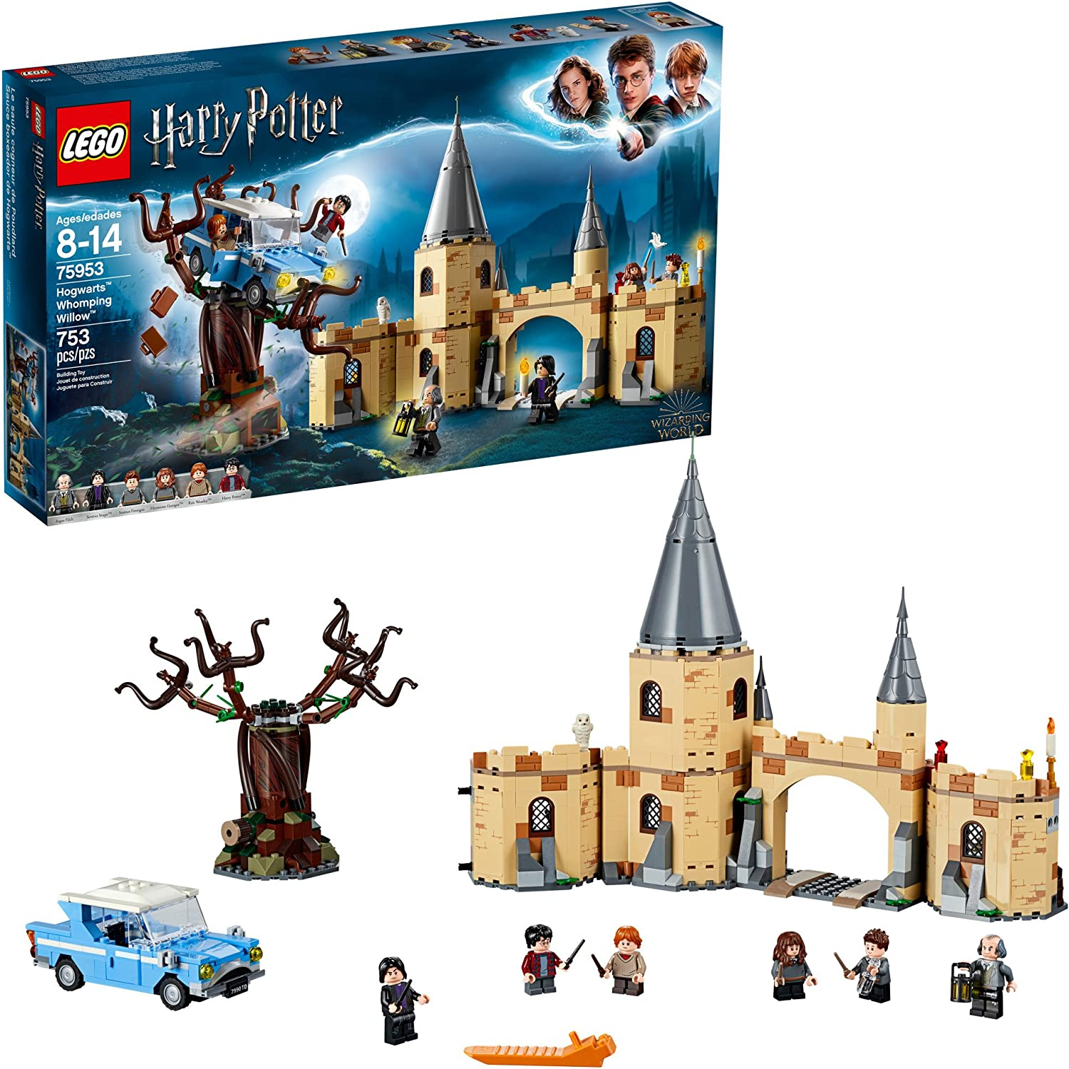 Lego Harry Potter And The Chamber Of Secrets Hogwarts Whomping Willow 75953 Magic Toys Building Kit Prisoner Of Azkaban Hedwig Hermoine Granger And Severus Snape 753 Pieces Toys Games