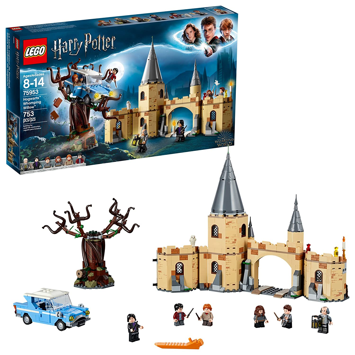 LEGO Harry Potter Hogwarts Whomping Willow Building Kit (753 Piece), Multicolor 6212642