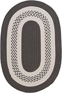 product image for Colonial Mills Hampton Fade-resistant Indoor/Outdoor Braided Rug (2' x 3') gray Silver, White, Grey