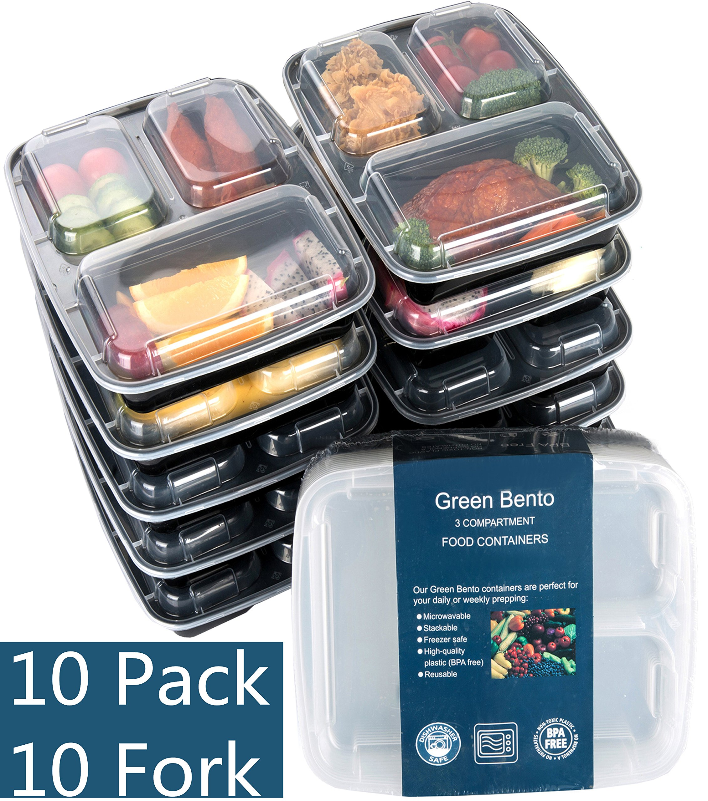 Meal Prep Food Storage Set Kitchen Bowl Grocery 10PC Portion