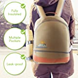 summerease Insulated Picnic Backpack Lunch Bag