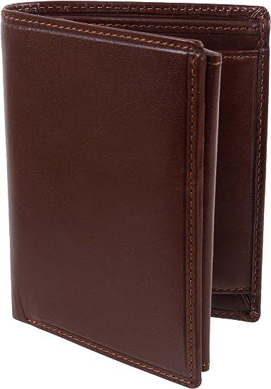 Visconti para hombre cartera, piel, Monza-colección, en estuche de regalo, Italian Brown: Amazon.es: Ropa y accesorios