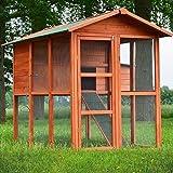 Zooprimus Hühnerstall 030 Geflügelhaus - PREMIUM-HÜHNERHAUS - Stall für Außenbereich (für Kleintiere: Hühner, Geflügel, Vögel, Enten usw.)