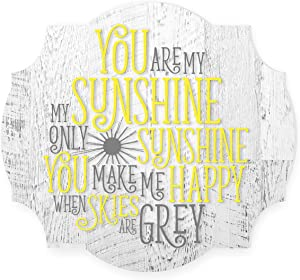 You are My Sunshine Scalloped Wood Sign 12x13