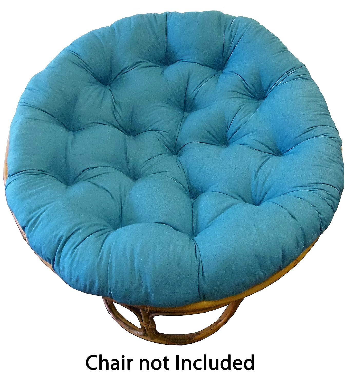 Amazon.com: Cotton Craft Papasan Chair Cushion Black, Pure 18 ...