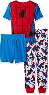 Marvel Little Boys Spiderman 3-Piece Cotton Pajama Set