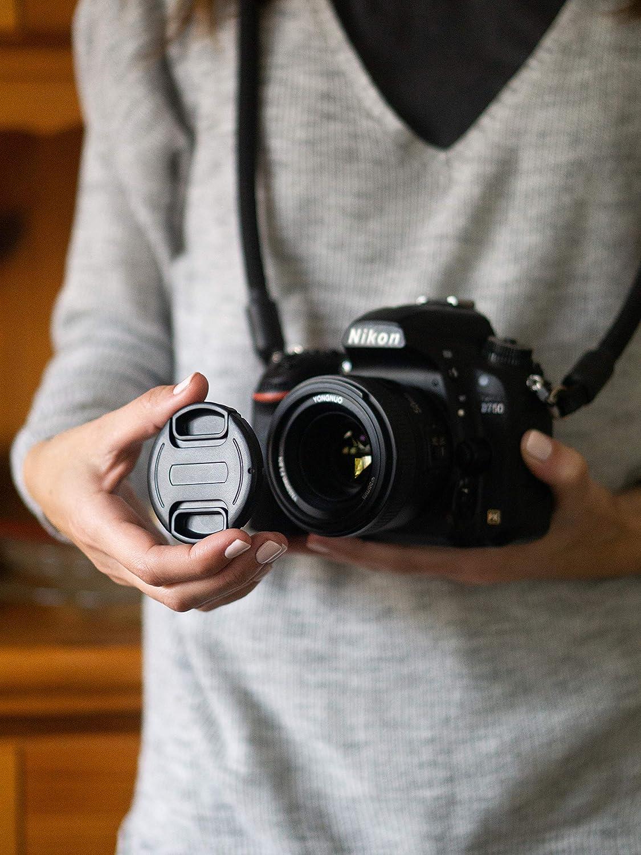 Snap-On Universal-Ersatzkappe Center Pinch Kameradeckel Linsenschutz Schutz-Kappe Objektivschutz Objektivschutzdeckel f/ür Canon Sony Nikon Sigma Tamron 77mm Objektivdeckel Perfekter Fester Halt