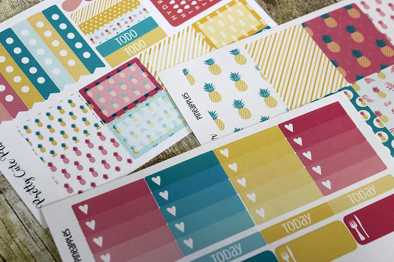 Weekly Planning Stickers / Pineapple Sticker Set / Erin Condren Stickers / Happy Planner Stickers / Planner sticker set / Planner Decor