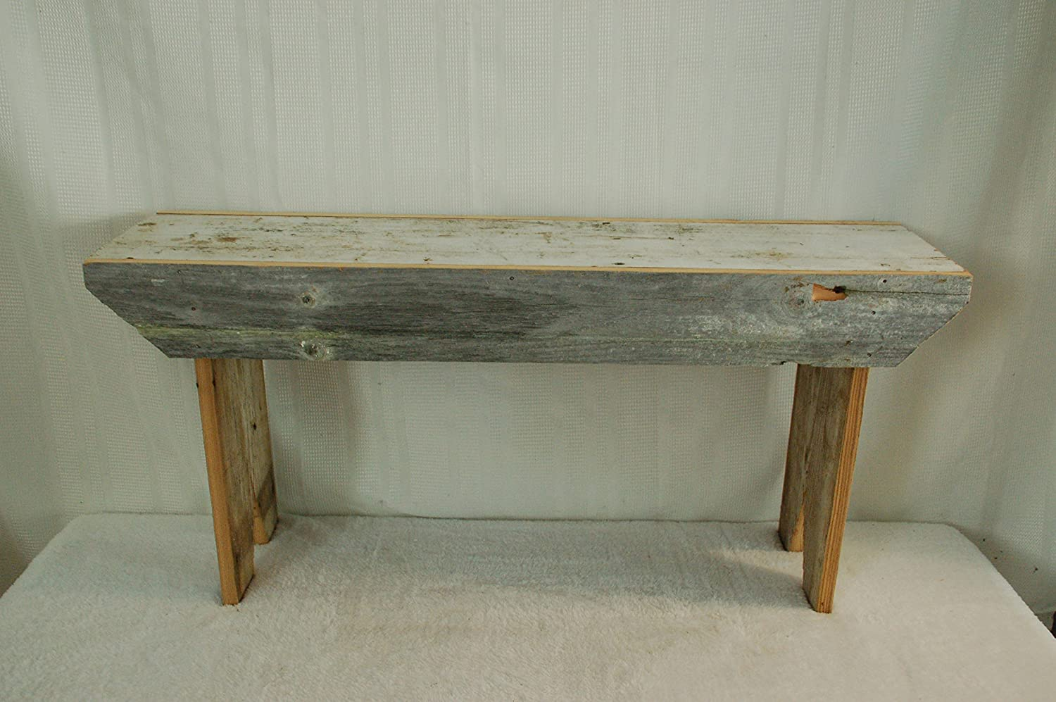 "Rustic 3 Foot Barnwood Bench. This Country Bench Seats Varies in Width From 8 - 10"" and Stands 16"" Off Ground. Made From Antique Barnwood in Excess of 100 Years Old. This Rustic Primitive Bench Is a Great Addition to Your Home and Garden Landscape Design. Spectacular Bench and a Piece of History At a Spectacular Price."