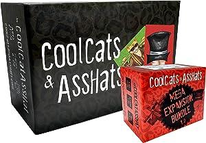 CoolCats & AssHats - The Funnest Adult Party Game + Mega Expansion Bundle