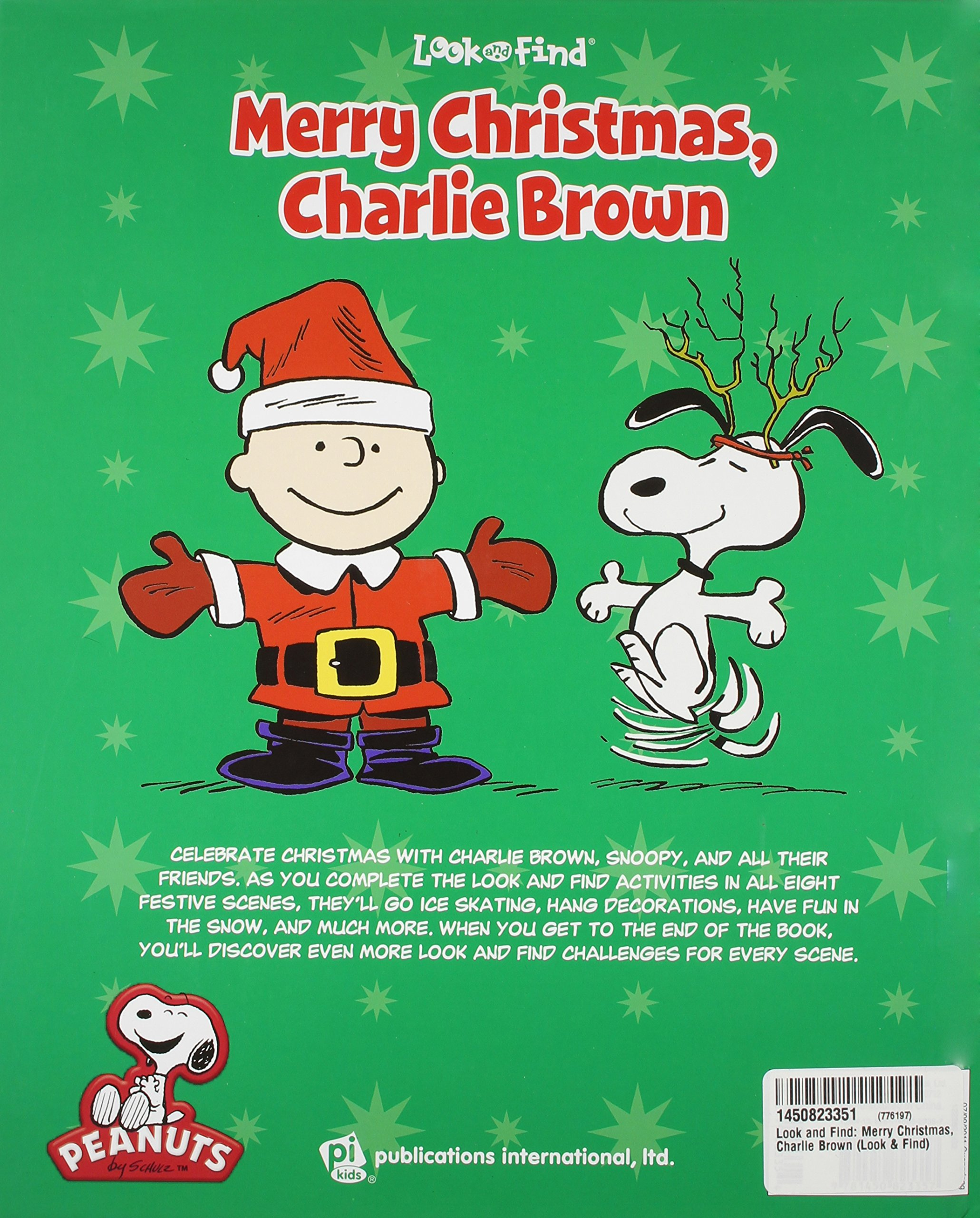 peanuts merry christmas charlie brown look and find 9781450823357 look find charles m schulz creative associates 9781450823357 amazoncom books - Snoopy Merry Christmas Images
