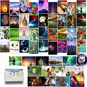 Wall Collage Kit 50 pack 4x6 Inch Room Decor Aesthetic Indie VSCO Postcard Posters for Girl and Boy Teens, Cool Art Picture Photo Sets for Hallway Stairs Wall Bedroom Decor, Festivals Gifts
