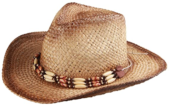 50a11bb8dac83 Enimay Men s Womens s Western Outback Straw Canvas Cowboy Hat Adventure  Brown ...