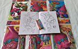 12 Dreamworks Trolls Coloring Books and 48 Crayons