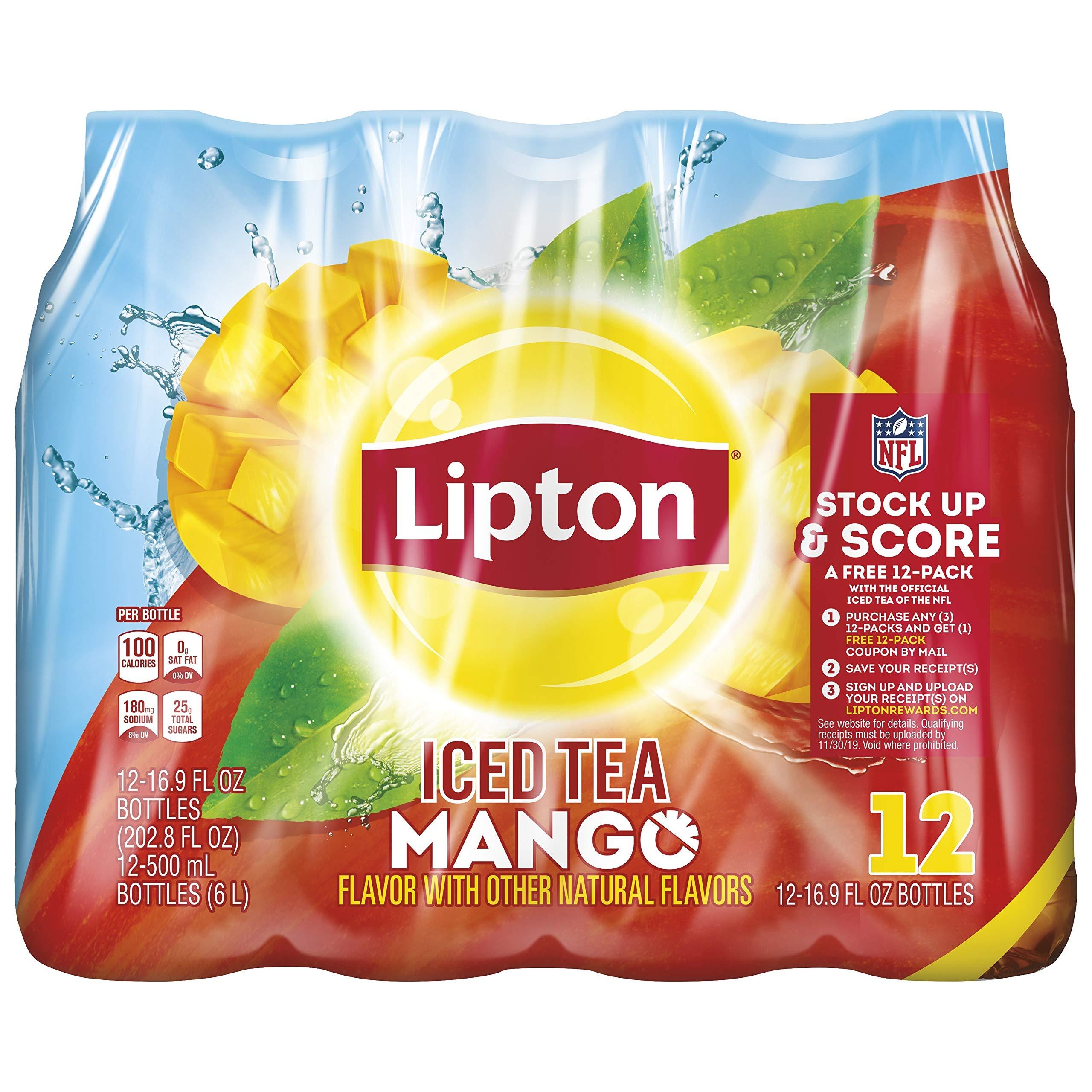 Lipton Iced Tea, Mango, 16.9 Fluid Ounce (Pack of 12)