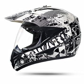 ATO-Helme 800 GS War - Casco de motociclismo (con visera, ECE 2205