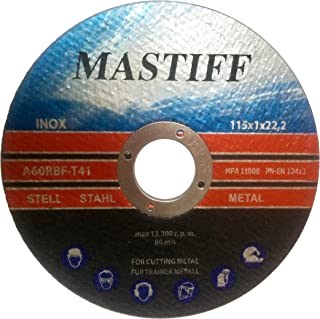 Pack of 10 Cutting Discs for Steel 115x1,0 mm A60RBF T41 Mastiff