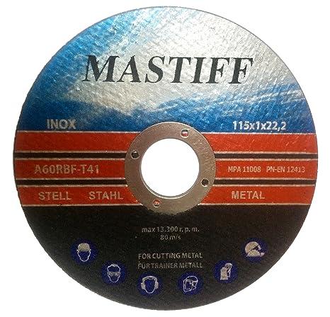 10 pieza Disco de corte para acero 115 x 1,0 mm a60rbf T41 Mastiff