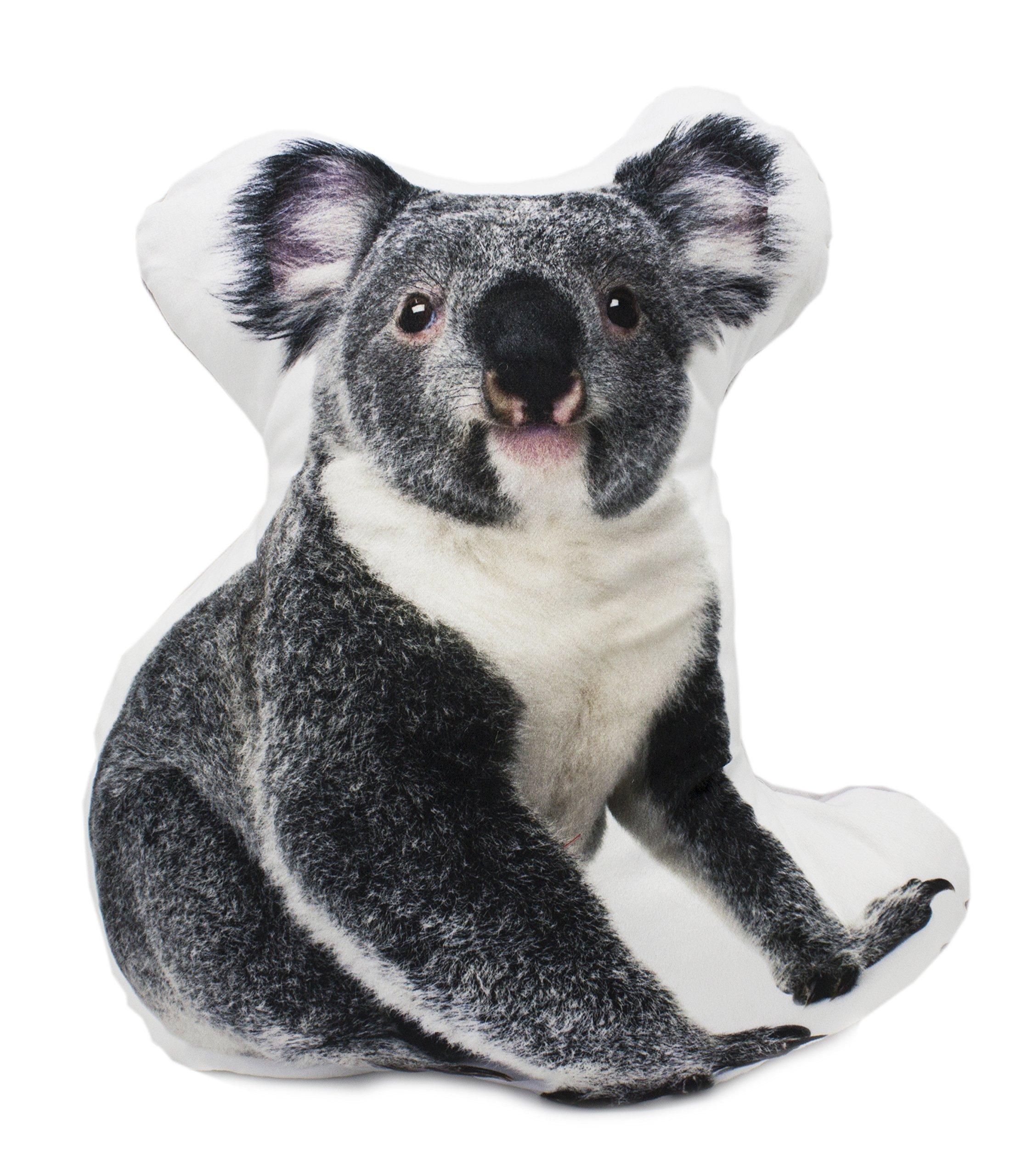Fennco Styles Decorative 3D Cute Animal Shaped Super Soft and Cozy Kids Adults Cushion Pillow (Koala, Case+Insert)