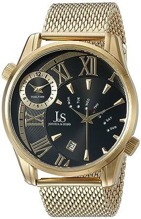 5cc9b6ba515 Joshua   Sons Designer Men s Watch – Gold Tone Stainless Steel Mesh  Bracelet Band – Multifunction