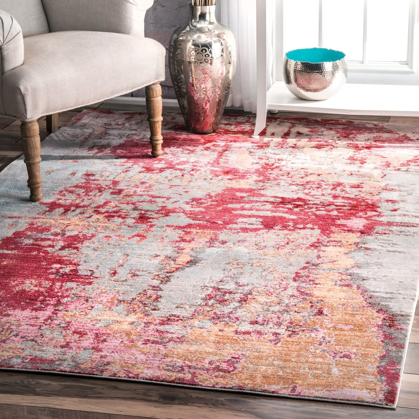 nuLOOM Mitzie Abstract Area Rug, 7 10 x 10 10 , Red
