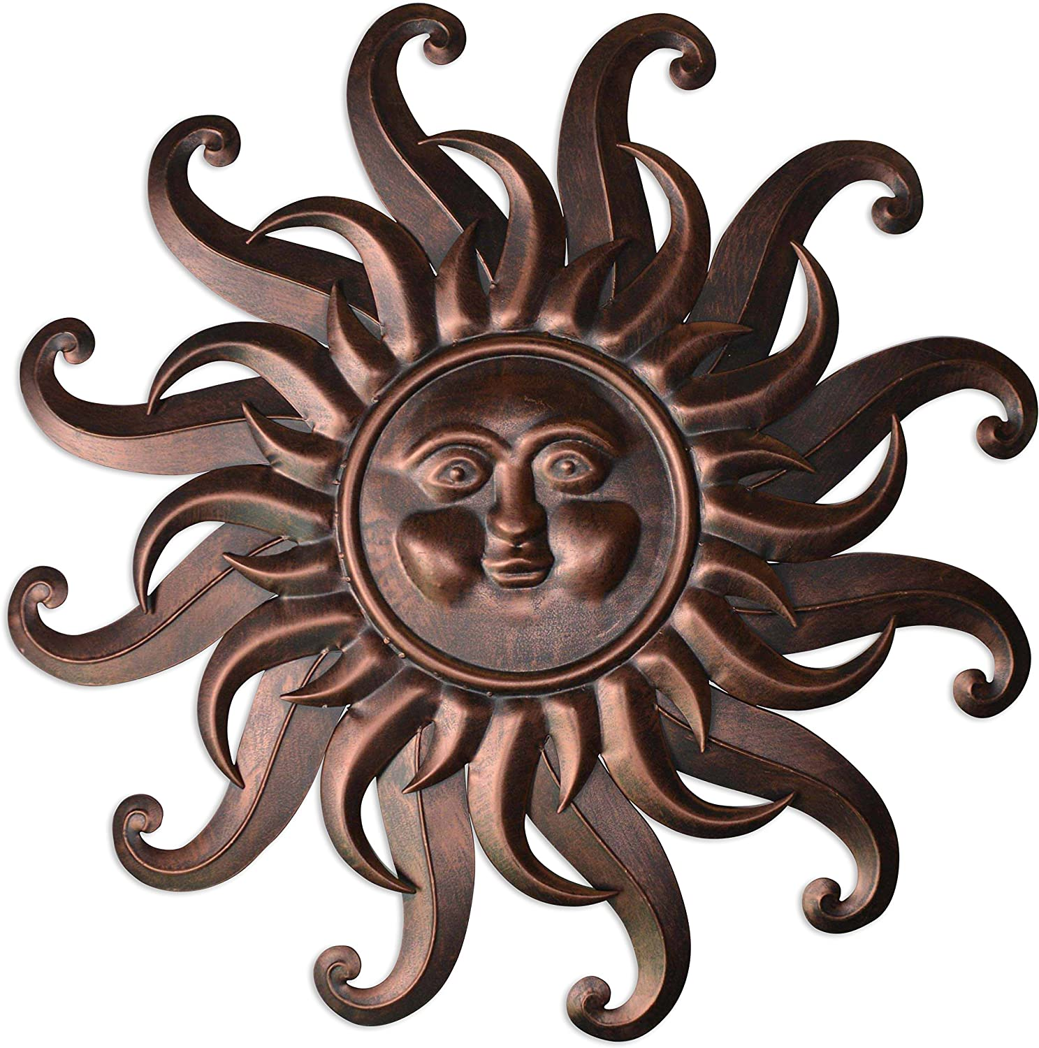 "Comfy Hour 27"" Sun Face Wall Decor"