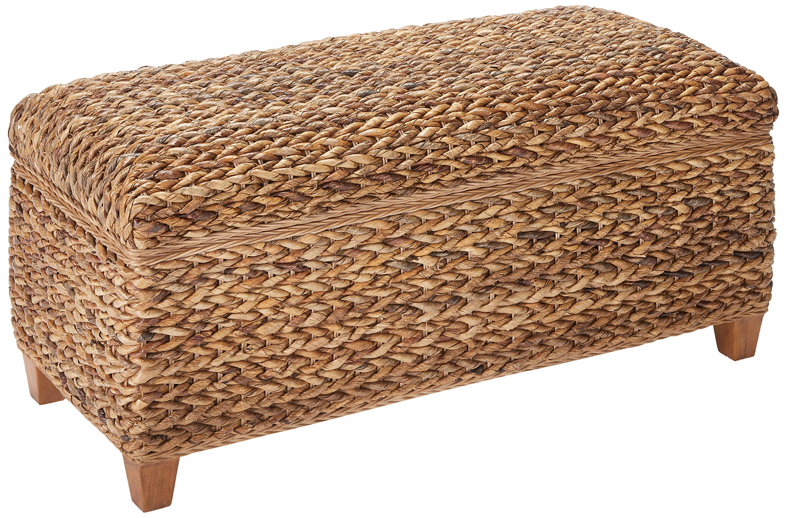 Laughton Woven Banana Leaf Trunk Amber by Coaster Home Furnishings