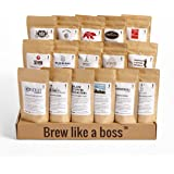 Bean Box World Coffee Tour Gourmet Sampler - (16 roasts, specialty whole bean coffees around the world, coffee gift box, gift for dad)