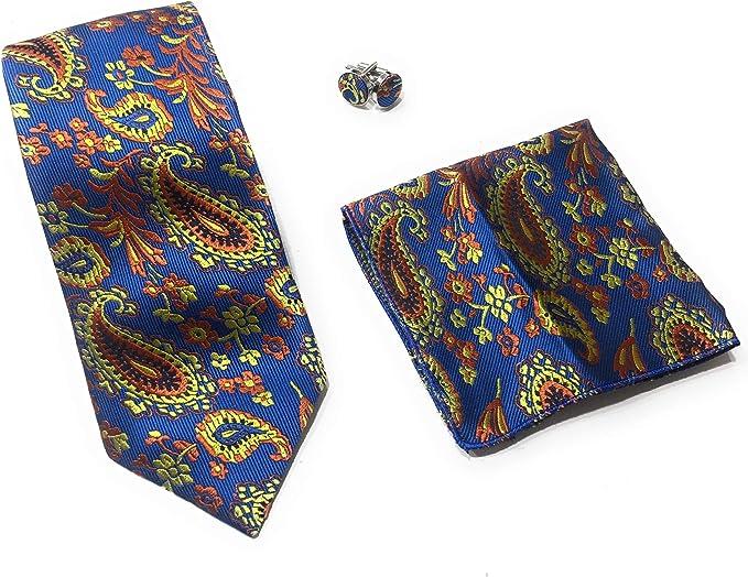 Carlo Bruno - corbatas de Seda - 3 Piezas gemelos y corbata ...