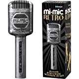 Mi-Mic Kids Karaoke Microphone Speaker with Wireless Bluetooth and Voice Changer, Retro, Black